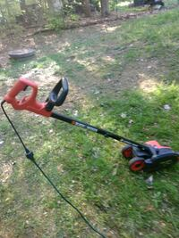 black and red string trimmer