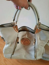 white and brown Michael Kors leather handbag Naperville, 60563
