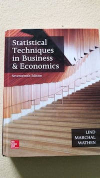 Statistical techniques in business and economics  Innisfil, L9S 0A5