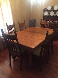 Oak dining room table and 6 oak chairs  Fort Mill, 29715