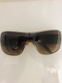 Dior authentic brown/ matte gold shield sunglasses w crystals