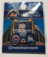 NEW YORK METS PINS  Same pins as sold in CitiField, never opened, still in package. Please specify which pin you're interested in and I will ship anywhere in USA for $3.50 additional.  New York, 10306