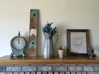 Decorations - vintage clock, wood picture board, vase, picture frame (click 'more info') Kelowna, V1P 1B6