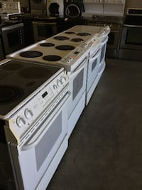 White/ Black Stainless Steel Glass Top Stoves Richmond