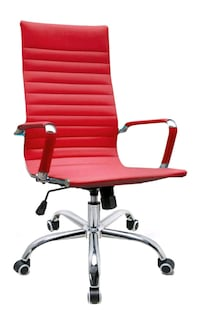 NEW High Back Leather Executive Office Chair, Red Houston, 77036