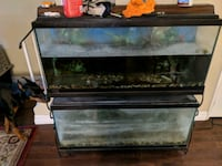 Two 55 gallon fish tanks Toronto, M2H 1Z9