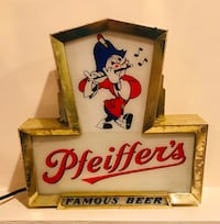 Pfeiffer's Beer Lighted Sign.