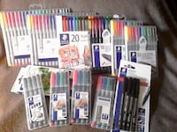 Staedtler Fineliners, Pigment liners, Ballpoint, Universal surface, permanent and non permanent markers Brampton