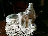 two clear glass candle holders Kingston, K7K