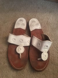 White Leather Jack Rogers Sandals SIZE 9 Women's Columbia, 21044