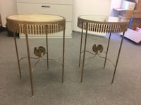Metal tables with marbled/mirrored tops stand 2ft high Anaheim, 92805