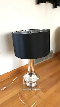 glass table lamp with black drum lamp shade Charles Town, 25414