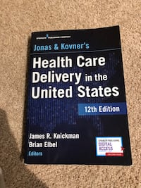 Health Care Delivery in the US. 12th edition-LIKE NEW Washington, 20003