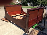 Antique sleigh bed frame without mattress Clarksville, 37042