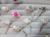 Natural stones rings (new and handmade) MONTREAL