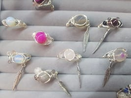 Natural stones rings (new and handmade)