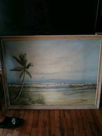 brown wooden framed painting of trees Tampa, 33614