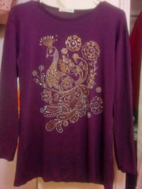 purple and Golden floral long-sleeved shirt Toronto, M1E 3W9