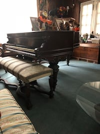 Baby grand piano (made by George Steck)