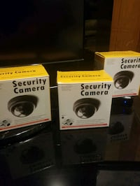 Dummy security cameras battery operated motion  Pickering