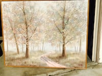 brown wooden framed painting of trees Chino, 91710
