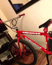 red and white Mongoose hardtail mountain bike New York, 10016