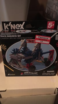 black and white K'Nex truck building set box