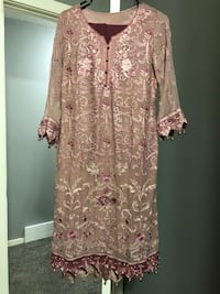 women's pink and white floral dress Calgary, T3J 2W5