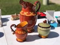 Pitcher, Creamer and Sugar bowl by CBK Little Egg Harbor Twp, 08087