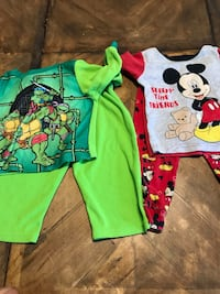 Toddler's two green and blue footie pajamas North Las Vegas, 89030