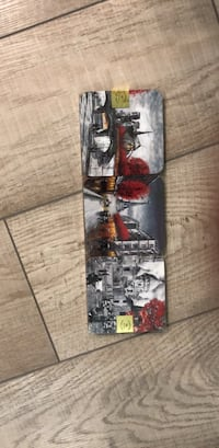 black and red skateboard deck 3751 km