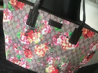 black, pink, and green floral tote bag Sterling Heights, 48314