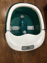 White and green foot massager Mississauga, L5H 3Y9