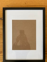 Black picture frame with matte