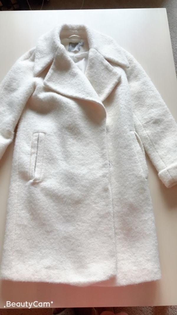 Cream coat from ASOS, brand new, US size 0