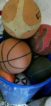 Basket balls. Soccer football nerf 5.00 each Middletown, 10940