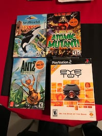 Three video games and one eye toy, lot 16 Smithtown, 11787