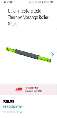 Gaiam Restore Cold Therapy Massage Roller Stick *b Brampton, L6R 1L5