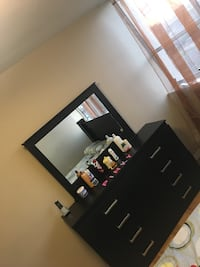 Dresser with mirror & 1 night stand