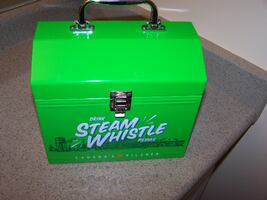 STEAM WHISTLE metal lunch box or beer box