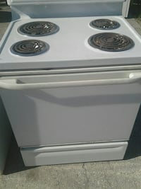 white and black electric coil range oven Clearwater, 33764
