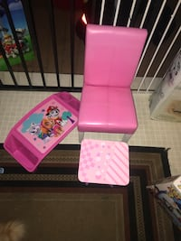 Child's leather chair.. stool.. paw patrol good/activity tray  Vallejo, 94591