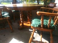 wood table & 4 chairs