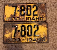 Collectible Idaho Plates Spokane, 99208