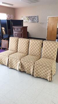 brown and white fabric 3-seat sofa Gaithersburg, 20877