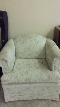 white and green floral fabric sofa chair Cumberland, 21502