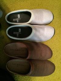 Two Pairs Size 9.5 Merrell clogs