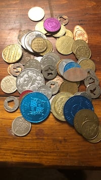 assorted round silver and gold coins Sterling, 20165