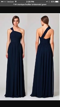One  Shoulder Gray Gown Goose Creek, 29445