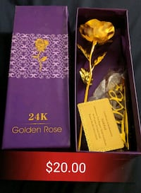 24k gold foil rose with stand Toronto, M4J 2A1
